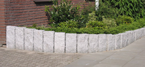 Decorative Stone Garden Edging, Garden Wall Edging