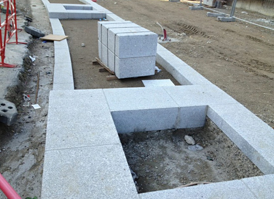 Granite Stone Edging : Decorative stone garden edging